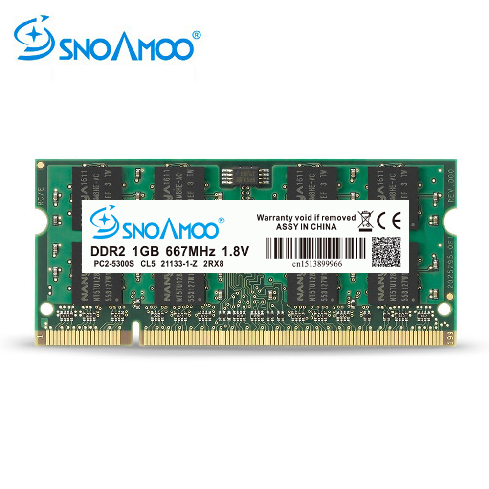 SNOAMOO ноутбук ОЗУ DDR2 1 Гб 2 Гб 667 МГц PC2-5300S 800 МГц PC2-6400S 200 Pin CL5 CL6 1,8 V 2Rx8 SO-DIMM памяти компьютера гарантия