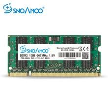SNOAMOO Carneiros Laptop DDR2 1GB PC2-6400S PC2-5300S 2GB 667MHz 800MHz 200 Pinos CL5 CL6 1.8V 2Rx8 SO-DIMM Garantia de Memória Do Computador