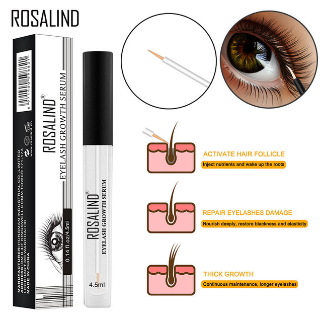 74255960570 ROSALIND Eye Lash Lift Enhancer Eyelash Growth Serum Treatment Longer Fuller  Eye Care Natural Makeup Lashes Lift Eyelash Serum