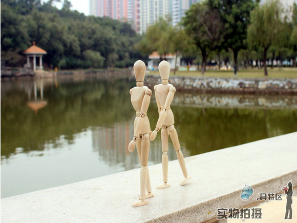 Free shipping! 12 inch joints Mannequin Wooden manikin hand model people 's joints 12 inch 25cm dummy