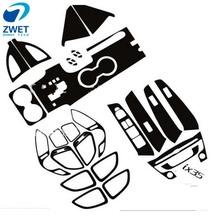 ZWET ix35 jazdy samochodem po prawej stronie specjalne naklejki dla ix35 naklejki z włókna węglowego dla HYUNDAI2015 ~ 2017 tanie tanio Center Console Kierownicy outlet Klamka Zestaw Suite Drzwi Wewnętrzne Pokrętło