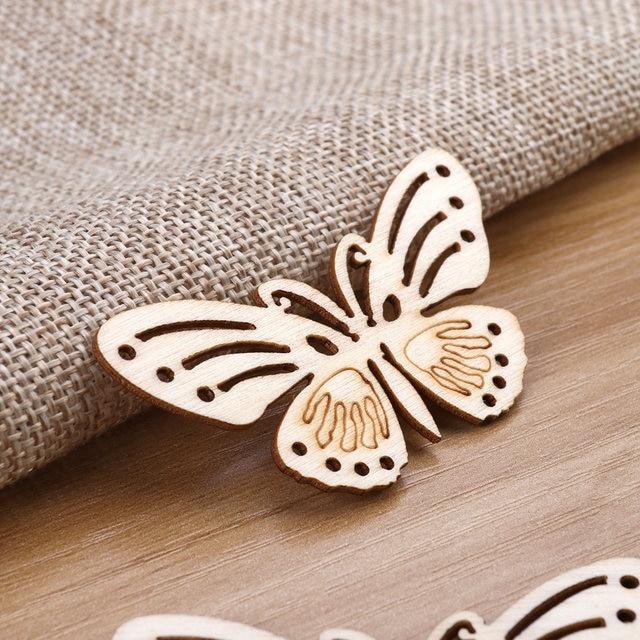 online shop 10pcs wooden cutout ornaments hanging embellishments