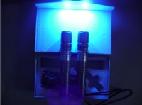 Yüksek güç 2000 m 405nm yüksek güç odaklanabilir mor mavi lazer pointer/UV Mor lazer meşale Burn Ücretsiz Maçlar nakliye