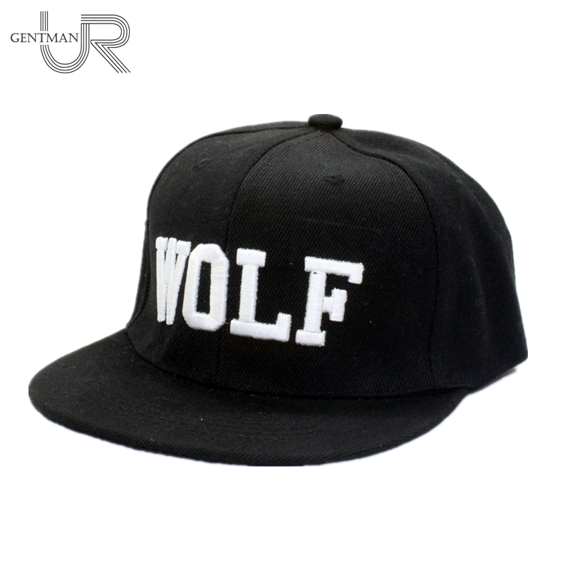 2016 New Hot  Wolf Snapback Flat Along The Hat Baseball Cap Hip-hop Bone Exo Peaked Gorro Sun Hats 2016 new korean children s pirate ship level for men and women baby embroidered baseball cap along the fringes of hip hop hat