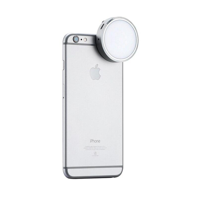 Новые YONGNUO YN06 flash-speedlite из светодиодов фото светло-серебристый круглый из светодиодов видео панель для iPhone 6 6 S плюс и смартфон