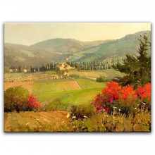 100% hand painted oil painting Home decoration high quality landscape knife painting pictures     DM16072103