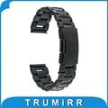 22mm pulseira de aço inoxidável para lg g watch w100 r w110 urbano asus zenwatch 1 2 22 w150 mm banda strap pulseira com a barra de mola