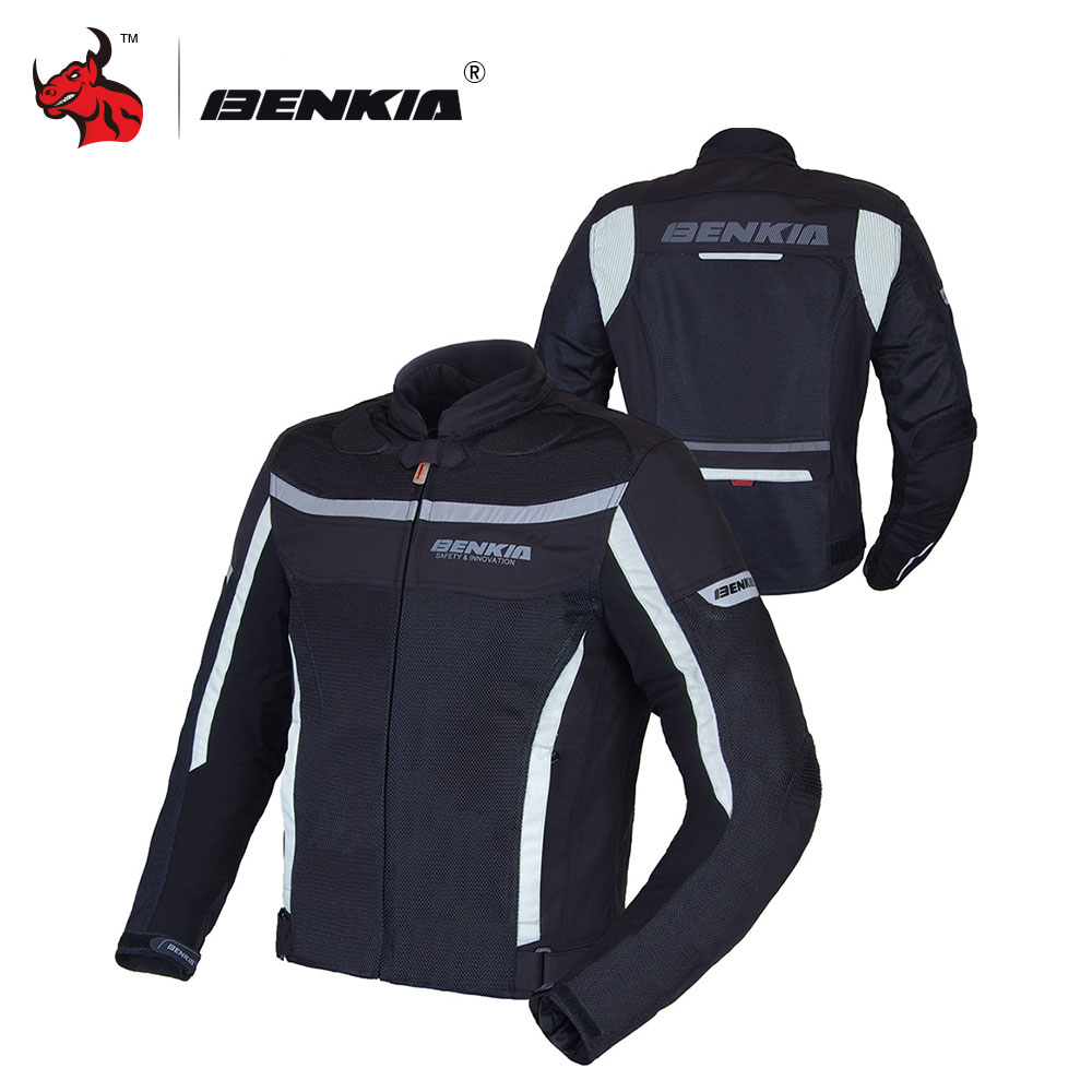 BENKIA Moto Racing Veste Amovible Coupe-Vent Doublure Moto Maille Veste Moto D'été Veste Hommes Moto Vêtements