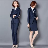 2 piece women's Pant Suits Formal Ladies Office OL Uniform Designs Women elegant Business Work Wear Jacket with Trousers Sets
