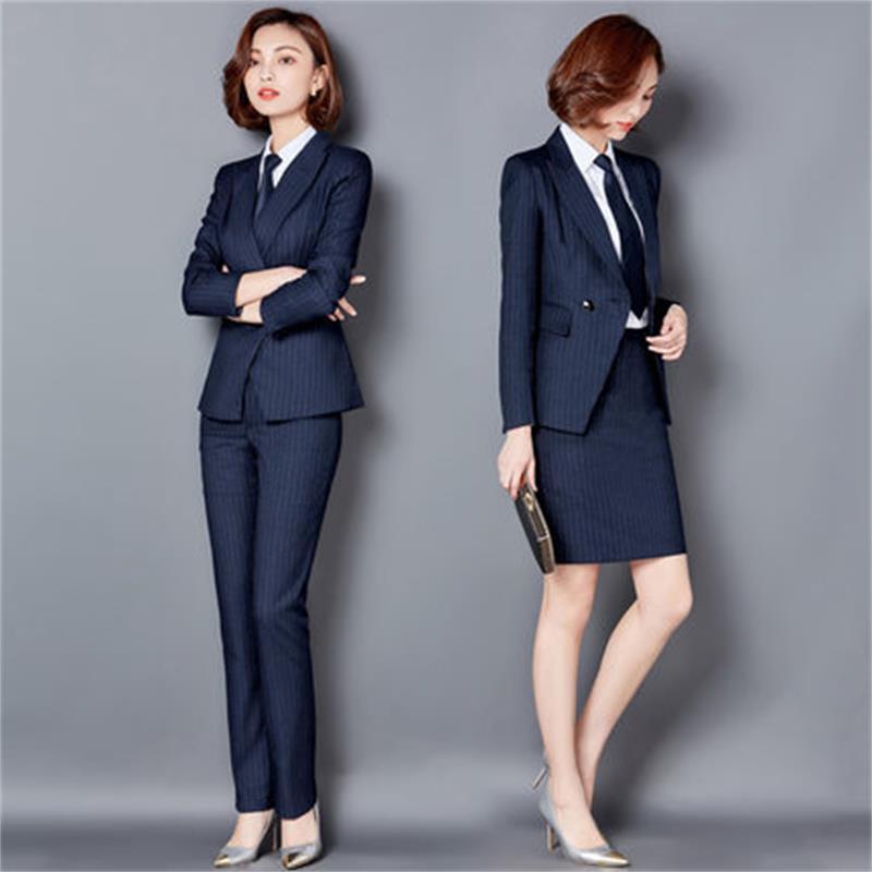 2 Stück Frauen Hose Anzüge Formalen Damen Büro Ol Uniform Designs Frauen Elegante Business Arbeitskleidung Jacke Mit Hosen Sets Ruf Zuerst