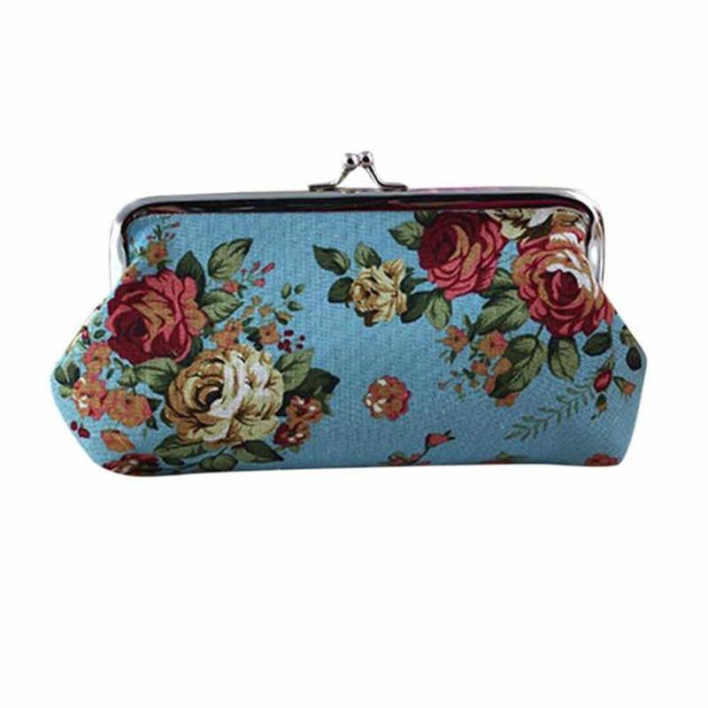 Kadın Bayan Retro Vintage Çiçek Küçük Cüzdan Çile Çanta el çantası bozuk para çantaları Kızlar Yüksek Kaliteli Kadın Çile anahtar paketi #40