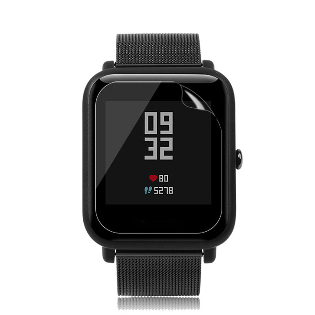 Image 4 - 5PCS Stylish Transparent Clear Screen For Amazfit Protective Film Waterproof Film For Xiaomi Huami Amazfit Bip Youth Watch L0507-in Smart Accessories from Consumer Electronics