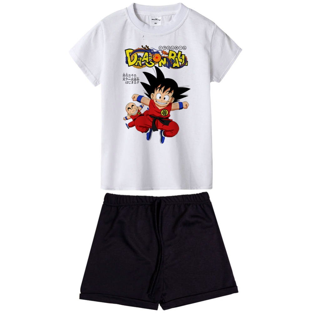New dragon ball z goku kids clothes set 2pcs Kids Clothing Baby Girls Summer Tops Shirts + Shorts Suits Children's Clothing 4pcs new for ball uff bes m18mg noc80b s04g