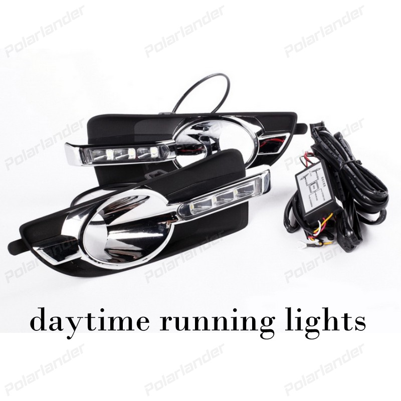1 pair car styling fog lamps led daytime running light For B/uick L/aCrosse 2008-2012 LED DRL High brightness guide DRL