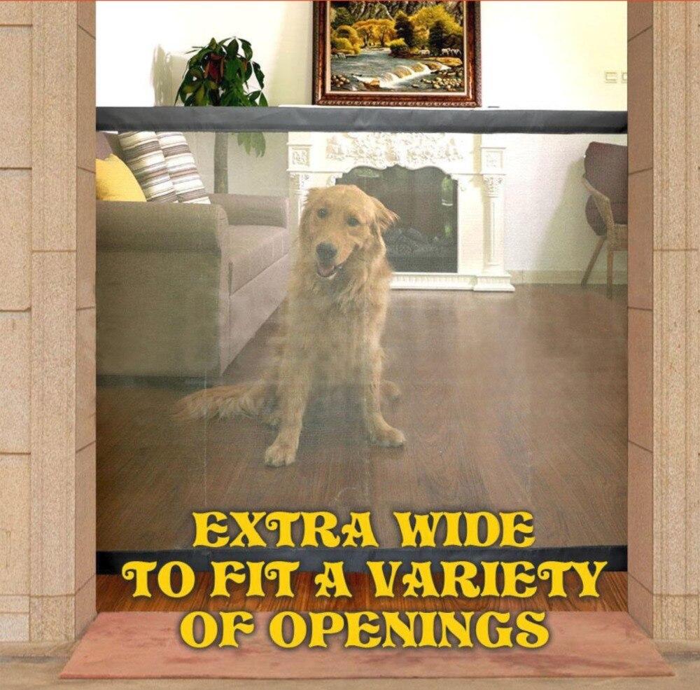 Libero trasporto di goccia Magico Cane Cancello Recinzioni Mesh Magic Pet Cancello Guardia di Sicurezza Installare Ovunque Isolare Pet Recinzione Di Sicurezza Rifornimenti Del Cane