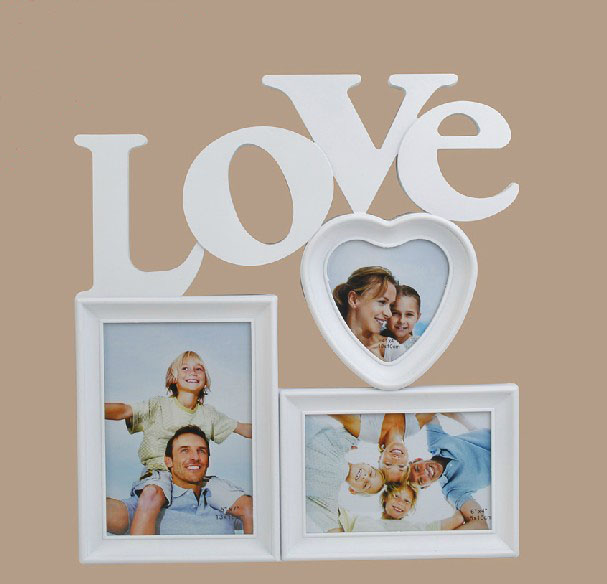 Novelty Love Family Photo Frame 3 Pieces Combination Wall Hanging
