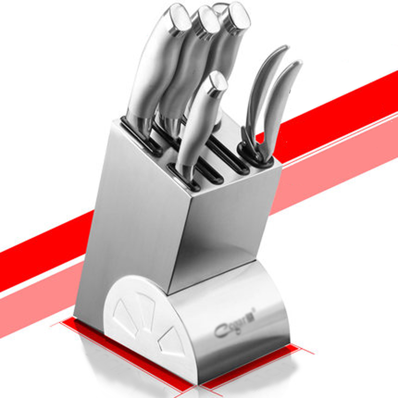 High Quality Stainless Steel Knife Holder Kitchen Accessories Knife Rack Ceramic Holder Knife Block Multifunctional Knife Stand