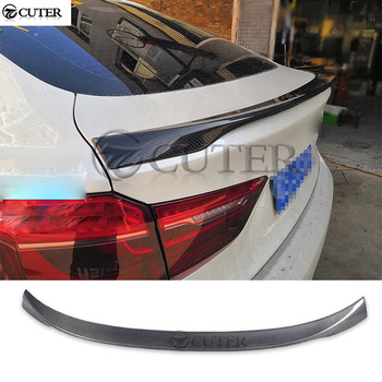 X6 F16 MP style Carbon Fiber Rear Wings trunk Lip spoiler for BMW F16 X6 car body kit image