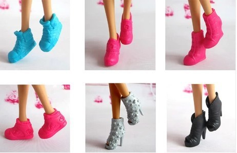 Free shipping genuine bulk accessories,Middle ankle boots Flat shoes Beautiful Shoes For Barbie Dolls ,Several optional hot sale