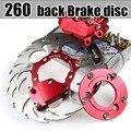 Tenedor posterior de la motocicleta eléctrica 260 Húsares convertido/mata/plato era 260 disco de freno de pinza flotante
