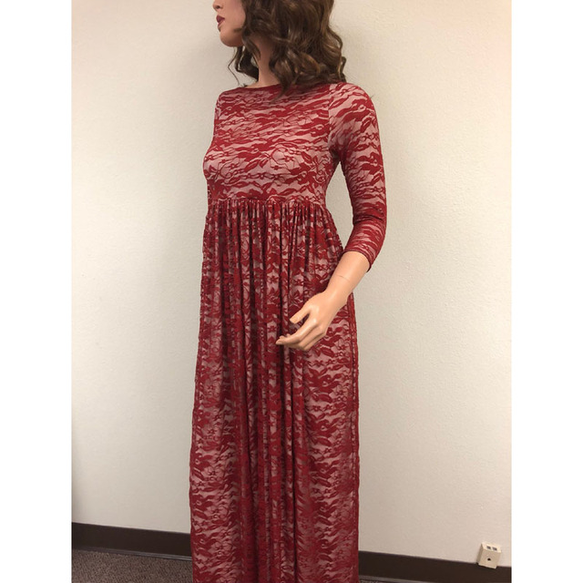 Long Lace Maternity Evening Pregnancy Dress