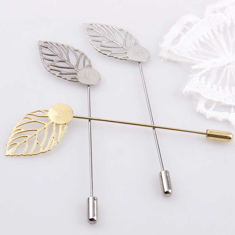 Factory Luxury Gold & Silver Plated Leaf Simulated Pearl Gold Alloy Brooch Pin DIY Lapel Dress Jewelry Brooches Accessories