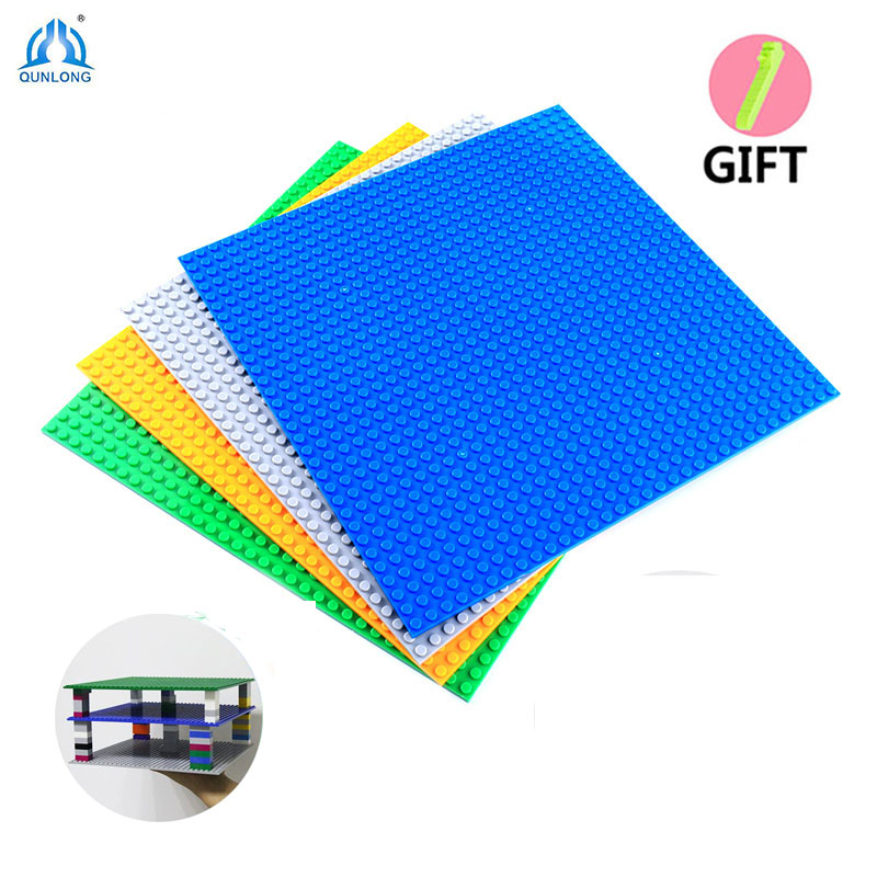 Minecrafted 32*32 Dots Double Size BasePlates Building Blocks Bricks Figures Base Plate Compatible Legos City Toy For Children new big size 40 40cm blocks diy baseplate 50 50 dots diy small bricks building blocks base plate green grey blue