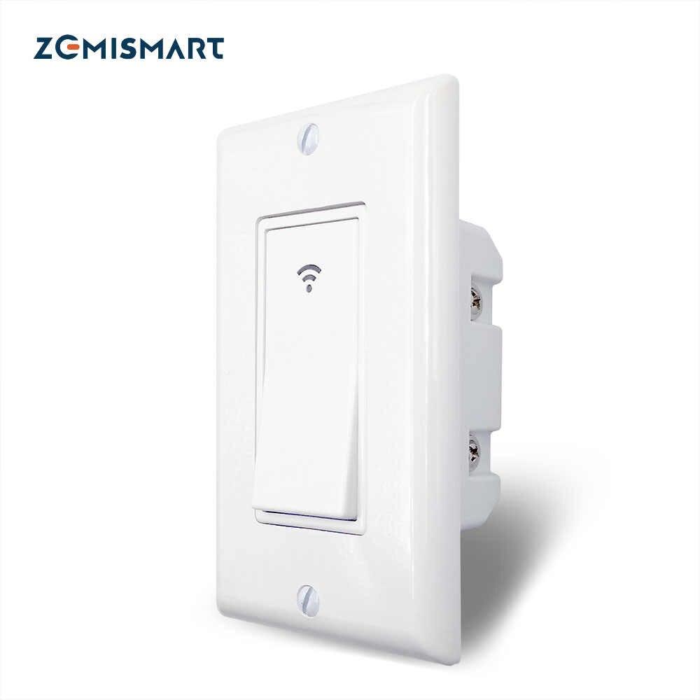 Zemismart WiFi switch Push Wall Switches Alexa Google home