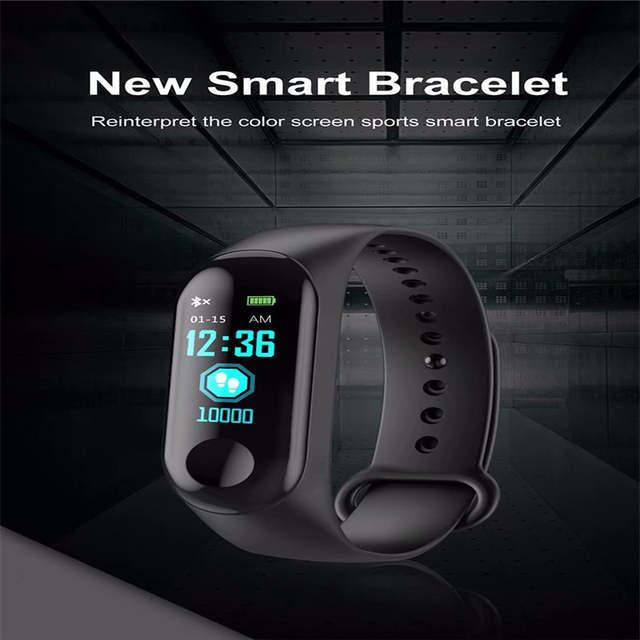 9925b9cde709 M3C pulsera inteligente presión arterial Fitness Tracker Monitor de ritmo  cardíaco Smart Band deporte para Android IOS PK M2 M3 TW64 ID115 F1