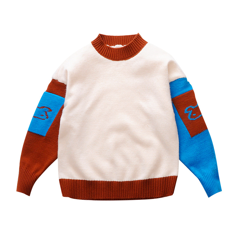 Color Stitching Girl With Thick Sweater Cuhk childrens Clothes New Style Girl Sweater Warm Kids Clothes For Girl Winter ClothesColor Stitching Girl With Thick Sweater Cuhk childrens Clothes New Style Girl Sweater Warm Kids Clothes For Girl Winter Clothes