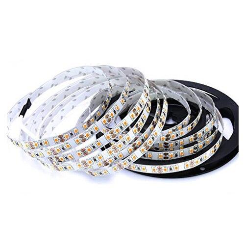 5m SMD 2835 600 LEDs 12V 72W 7500LM IP20 Dust-sealed Sealed Cool White LED Lamp Strip Band Tube Lights