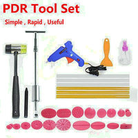 30 Pieces in One Car Paintless Dent Repair   Tool   Set Dent Puller Kit PDR   Tools   Slide Hammer 18 Pulling Tabs
