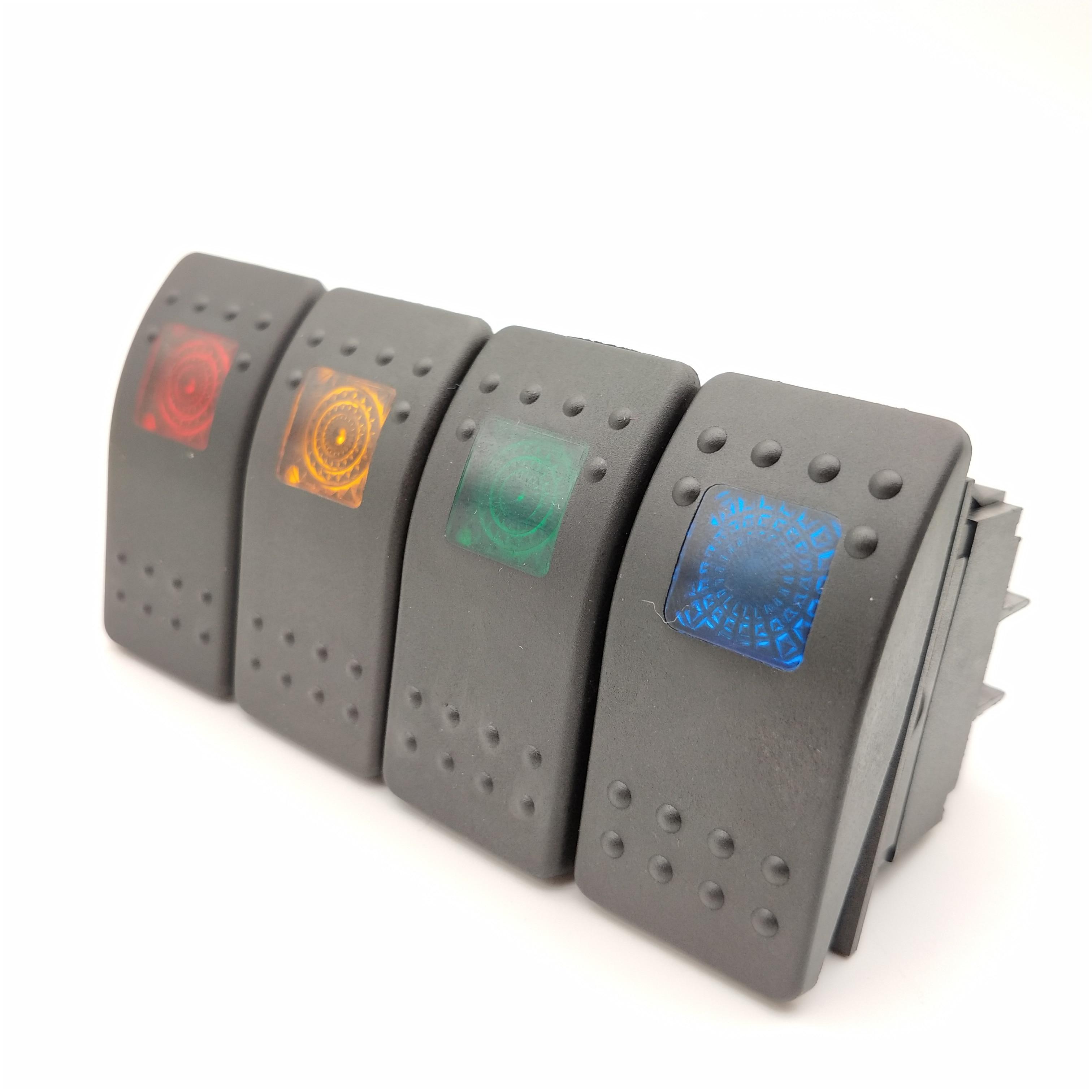 5 Gangs 12V ON//OFF Round Dash Rocker Toggle Switch Panel LED Light Car Marine