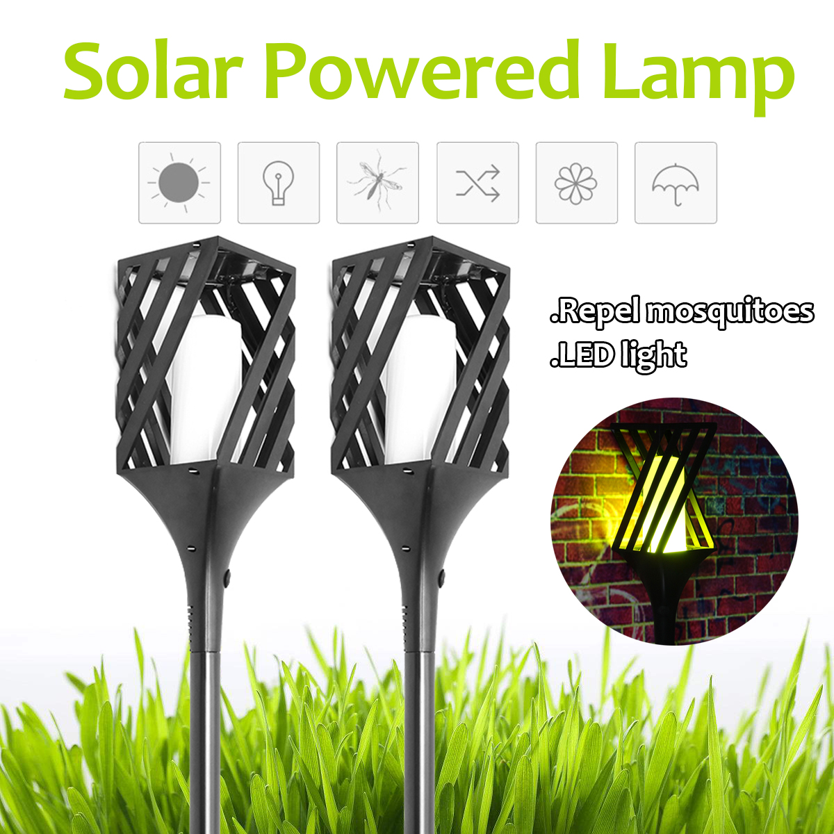 2Pcs Outdoor Solar Power Light Mosquito Killer Lamp Garden Lawn Camping Night Lights Pest Bug Zapper Insect Repeller UV Lamp solar anti mosquito insect killer led lamp powered waterproof ip65 uv light for outdoor yard garden lawn farm camping