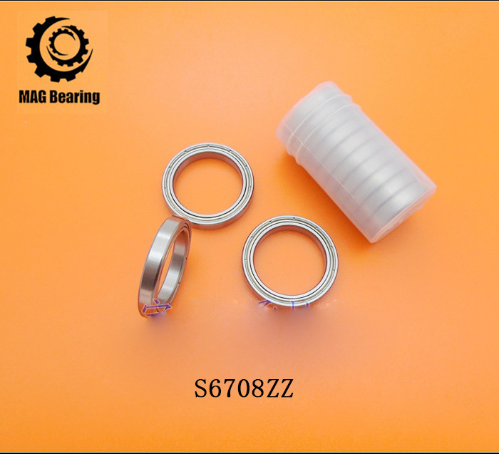 High Quality 1PC S61708 S6708ZZ Stainless Steel Miniature Radial Balll Bearing B6708ZZ Thin Wall Ball Bearings Size 40*50*6 mm kb035cpo sb035cpo prb035 radial contact ball bearing size 88 9 104 775 7 938mm