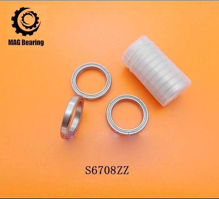 High Quality 1PC S61708 S6708ZZ Stainless Steel Miniature Radial Balll Bearing B6708ZZ Thin Wall Ball Bearings Size 40*50*6 mm 1pcs 71901 71901cd p4 7901 12x24x6 mochu thin walled miniature angular contact bearings speed spindle bearings cnc abec 7