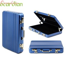 New Metal Mini Suitcase Business Bank Card Name Card Holder Case Box Drop Shipping(China)