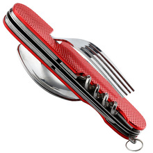Outdoor Multi-Function Fork Knife Tableware Tools Stainless Steel Portable 6