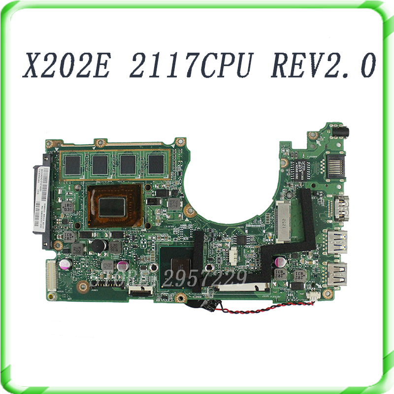 все цены на  For S200E X202E 2117 cpu 4G on board rev2.0 Laptop Motherboard Fully Tested All Functions Good Work  онлайн