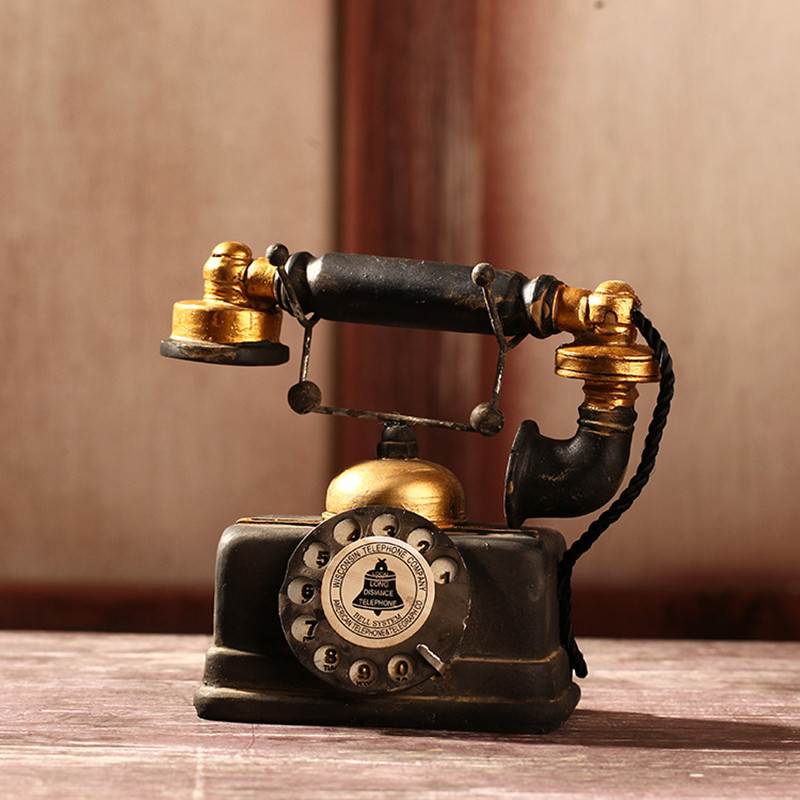 Free Shipping!Europe Style Phone Model Resin Decoration Vintage Style Telephone Model Antique looking Resin phone mold