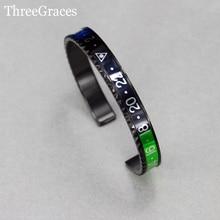 10 opciones de color de moda velocímetro oficial joyería titanium del acero inoxidable 316l para hombre cuff bangle pulseras para regalo ba004