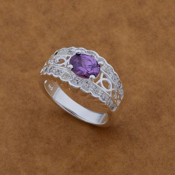 8d37077b75c78 Jiu Liu Er Xiao sklep Srebrny Pierścień Biżuteria Pierścionek Kobiety i  Mężczyźni zestaw z fioletowym strone/fantastyczne/ Aruajjba ceaakvha AR471
