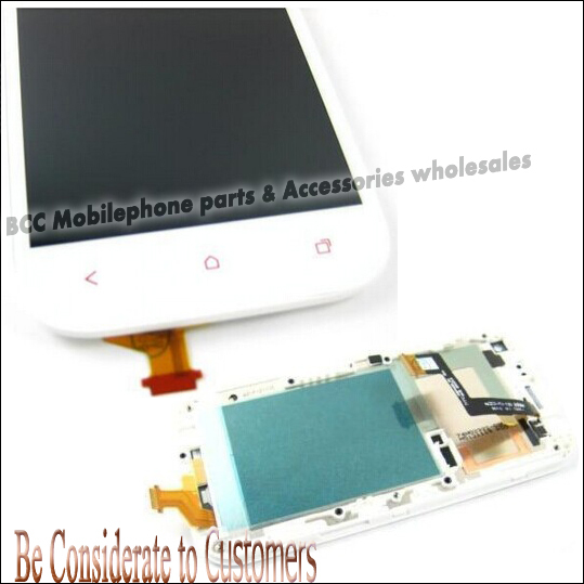 LCD Display +Touch Screen Assembly Digitizer Panel with Frame For HTC ONE SV 100% Original Blac/White Tools Free Shipping 3pcs