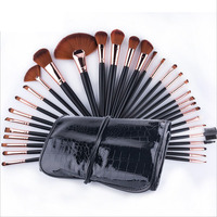 Professional Rose Gold Makeup Brushes 32 Pcs Cosmetic Kit Eyebrow Blush Foundation Powder Make Up Brush