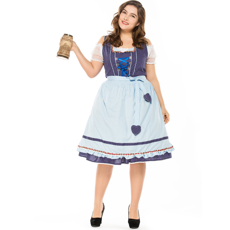 Big Plus Taille Allemand Miss Oktoberfest Cosplay Costume pour les Femmes Adultes Carnaval Pourim Robe Costume pour Halloween party