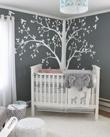 Full Corner Tree Wall Sticker Beauty Nursery Home Decor Set Of Two Corner Tree Birds And Leaves Poster Mural Ornament W250