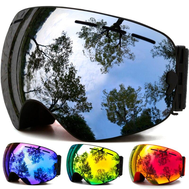 Gafas de esquí, invierno deportes de nieve gafas de snowboard con anti-niebla protección UV para hombres mujer juventud snowmobile esquí máscara Patinaje