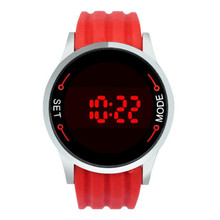 men watch 2017 Fashion Waterproof Men male clock LED Touch Screen Day Date Silicone Wrist Watch relogio masculino 170330 P*21