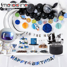 Outer Space Party Astronaut Rocket Ship Foil Balloons Galaxy/Solar System Party Boy Kids Birthday Party Favors Decoration space astronaut toy kids baby shower decoration for boy birthday party supply giant rocket balloons globos