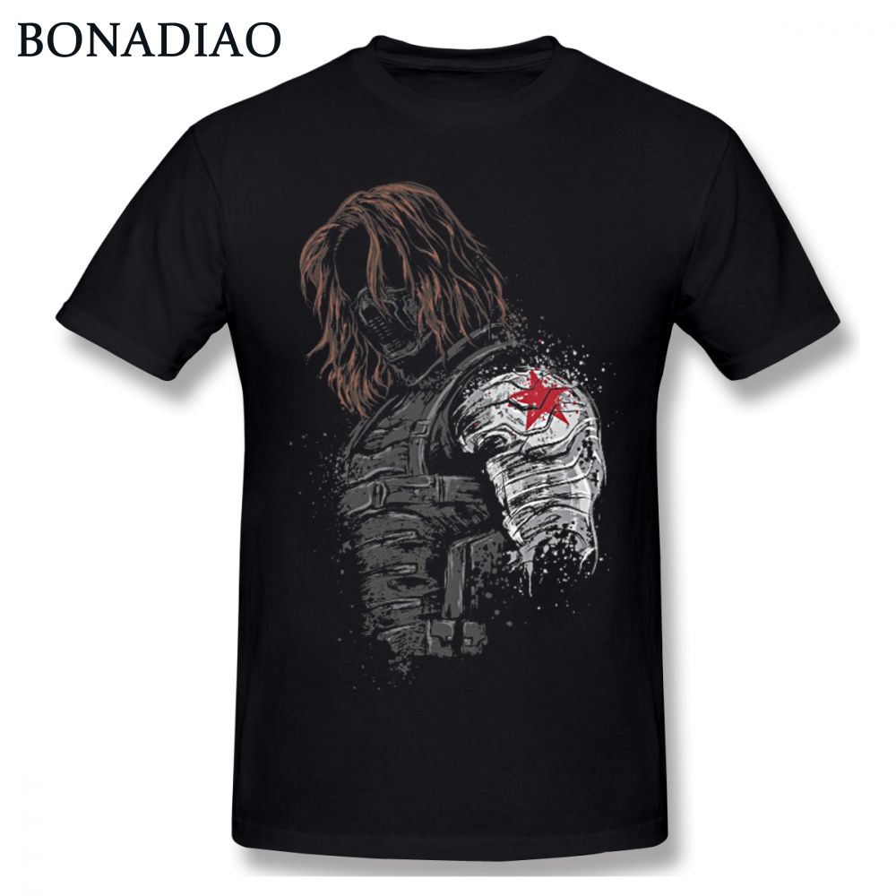 Winter Soldier Bucky Barnes   T     Shirt   Unisex Soft Cotton Homme Tee   Shirt   Popular Streetwear S-6XL Plus Size Tee